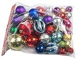 R-STYLE 豪華に装飾 クリスマス ツリー 飾り ボール オーナメント いろいろなサイズ36個セット (無地球とデザイン球)