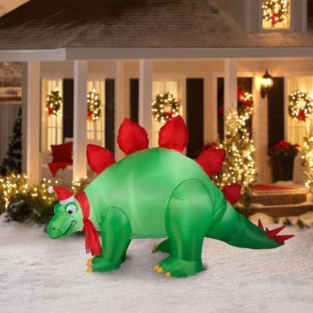 Holiday time animated stegosaurus air blown inflatable 9 for Air blown decoration