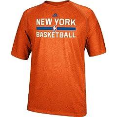 New York Knicks Heather Orange Climalite Practice Short Sleeve Shirt by Adidas by adidas