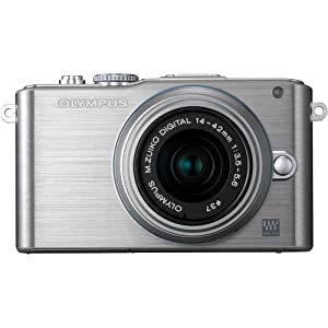 Olympus PEN E-PL3 14-42mm 12.3 MP Interchangeable Lens Camera with CMOS Sensor and 3x Optical Zoom (Silver) (Old Model)