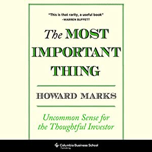The Most Important Thing Audiobook