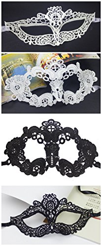 Lace Mask Hollowed-out Venetian Masquerade Parties Half Face Retro Sexy 4 Pack