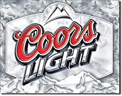 "Coors Light Frosted Tin Sign 16""W x 12.5""H"