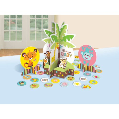 Amscan Adorable Fisher-Price Baby Shower Table Party Decorating Kit, 12-1/2