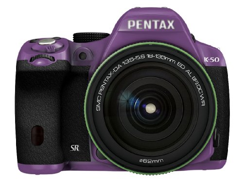 RICOH デジタル一眼レフ PENTAX K-50 DA18-135mmWRレンズキット パープル/ブラック 040 K-50 18-135WR KIT PURPLE/BLACK 040 11428