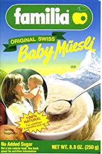 Familia Baby Cereal, Sugar Free, 8.8-Ounce Boxes (Pack of 12)