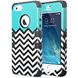 iPhone 5s Case,ULAK iPhone 5 Case Designer Pattern Protective Case Cover for Apple iPhone 5S iPhone 5 Hybrid Soft Silicone + Hard PC(Follow the Sky)