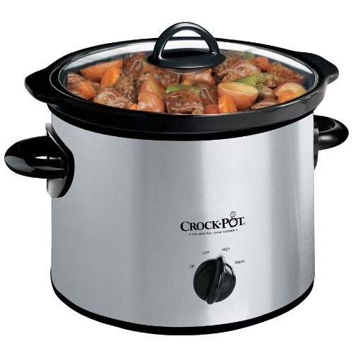 Check Out This Crock-Pot SCR300SS 3-Quart Round Manual Slow Cooker, Stainless Steel