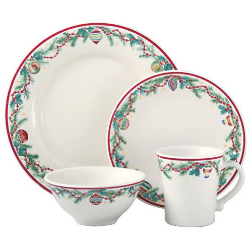 Buy Pfaltzgraff Holiday Garland 16-Piece Dinnerware Set, Service for 4