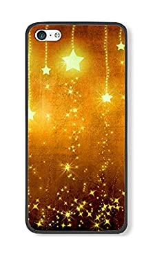 buy Phone Case Custom Iphone 5C Tpu Phone Case Golden Stars Black Soft Cover Case For Apple Iphone 5C