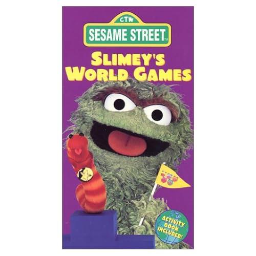 Sesame street slimeys world games vhs carlo alban