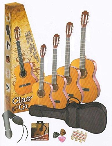 3/4 acoustic guitar pack for kids beginner natural