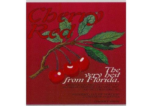 Nv Florida Orange Groves Cherry Red Tart Red Cherry Wine 750 Ml