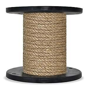 10m 60mm -- HANFSEIL Naturfasern gedreht Naturhanf Tauwerk Hanf Jute Tau Seil Tauziehen