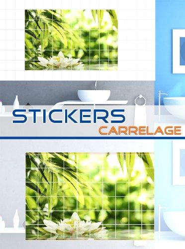 stickers sticker tile fleurissent l eau lac tang toilettes. Black Bedroom Furniture Sets. Home Design Ideas