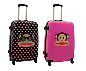 Paul Frank 4 wheeled Hard Shell travel Trolley Suitcase