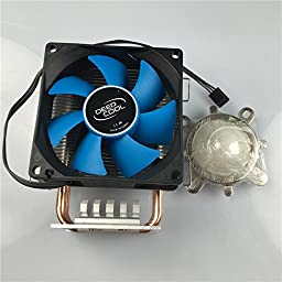 Led World Heatsink Copper Heat Pipe Cooling Fan +44mm lens kits 120 degree for 10-100W High Power LED