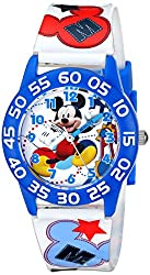 Disney Kids W001659 Mickey Mouse Plastic Watch, Printed Band