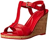Cole Haan Womens Ayla II Wedge Sandal, True Red, 5 B US