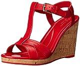 Cole Haan Womens Ayla II Wedge Sandal, True Red, 8.5 B US