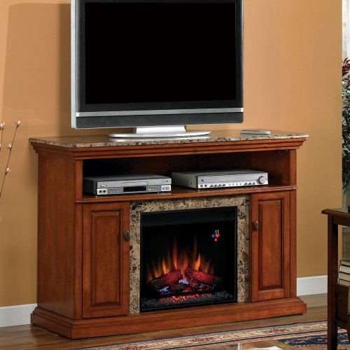 Brighton 56-Inch Electric Fireplace Media Console - Golden Honey - 23Mm1424
