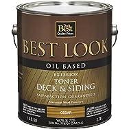 Best Look Oil-Based Exterior Deck Stain & Siding Toner-OIL CEDAR DECK TONER