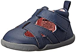 Carter\'s Every Step Bristol Stage 2 Stand Walking Shoe (Infant/Toddler), Navy/Orange Stripe, 3 M US Infant