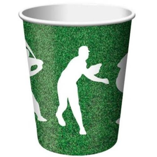 Team Sports Baseball 9oz Paper Cups 8 Per Pack