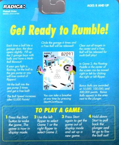 Radica Pinball Rider - Electronic Pinball Game - 1