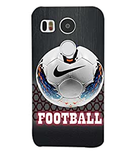 PrintDhaba FOOTBALL D-6529 Back Case Cover for LG NEXUS 5X (Multi-Coloured)
