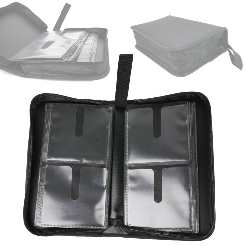 Duragadget Black Cd Dvd Storage Carry Wallet Bag Holds Up To 80 Discs For Apple Usb Superdrive