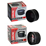 25 Piece Advanced Lens Package For The Nikon D7100 D7000 D5000 D5300 D5200 D5100 D3300 D3200 D3000 D40 D40X D50 D60 D70 D70S D80 D90 D100 D200 D300 D700 (Nikon 18-200mm & 18-55mm Lenses) Includes 52MM 0.43X HD2 Wide Angle Panoramic Macro Fisheye Lens + 52MM 2.2x HD AF Telephoto Lens + 52MM 3 Piece Pro Filter Kit (UV CPL FLD) + 52MM 6 Piece Multi-Colored Graduated Filter Set + 52MM 5 PC Close-Up Set (+1 +2+4 with 10X Macro Lens) + 52MM Flower Lens Hood + Deluxe Lens Cleaning Kit + 5PC Lens Cleaning Pen + Snap On Lens Cap + Air Blower Cleaner + Lens Cap Keeper Holder + LCD Screen Protectors + Mini Tripod + 47stphoto Microfiber Cloth + $50 Photo Print Gift Card!