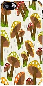 Snoogg seamless rainy season background Hard Back Case Cover Shield ForApple Iphone 5 / 5s