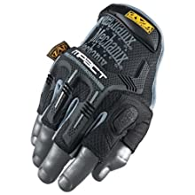 Mechanix Wear MFL-05-500 M-Pact Fingerless Glove, Black, Medium/Large