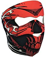 "Cagoule Masque Protection Neoprene ""Red Skull"" - Taille unique réglable - Airsoft - Paintball - Outdoor - Ski - Snow - Surf - Moto - Biker - Quad"
