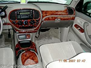 Toyota Tundra Interior Burl Wood Dash Trim Kit Set 2003 2004 2005 2006 Automotive