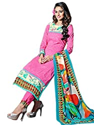 Craftliva Exclusive Embroidered Designer Pink Straight Suits