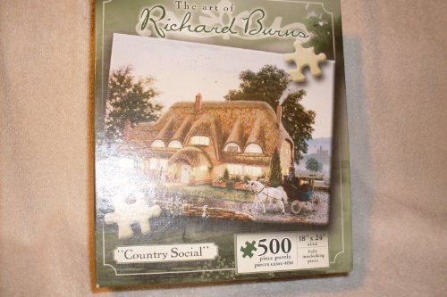 "The Art of Richard Burns 500 Piece Puzzle ""Country Social"" - 1"