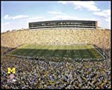Michigan Wolverines - Michigan Stadium - The Big House - Sm - Wood Mounted Poster Print at Amazon.com