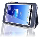 Asus MeMo Pad HD 7 (ME173X) HD7 Multi-Angle 'Pen' Case with 2 in 1 Stylus / Biro Pen by LuvTab® (Blue)