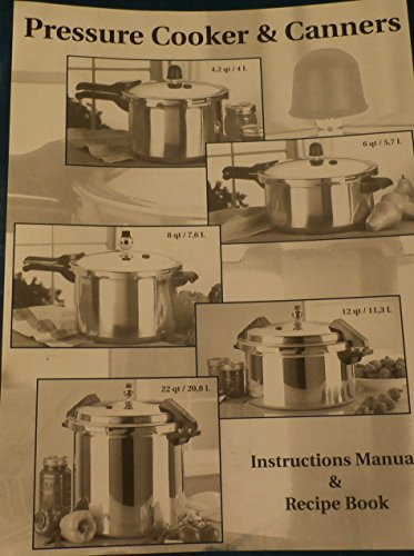 Pressure Cooker & Canners, Instructions Manual & Recipe Book (Mirro Pressure Cooker Book compare prices)