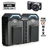 Discount on DUAL-ion+ ReVIVE Series Rapid NP-FW50 AC and DC Battery Charger for Sony Alpha NEX 7 / 5N / 5 / C3 / 3