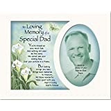 Memory Mounts Memorial In Loving Memory Of A Special Dad Mount And Poem For A Photo Frame 10 x 8 Inch