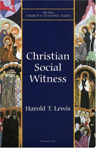 Christian Social Witness, HAROLD T. LEWIS