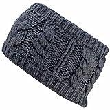 Luxury Divas Winter Cable Knit Wide Headband