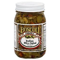 Boscoli Olive Salad Italian Oil 16.0 OZ (Pack of 6)