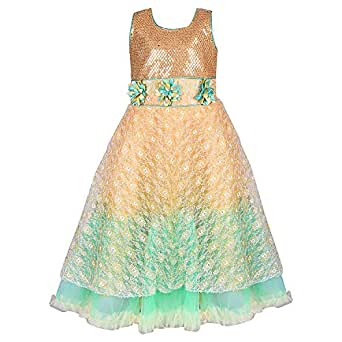 Wish Karo baby girls Frock long Dress DN LF37sg Amazon
