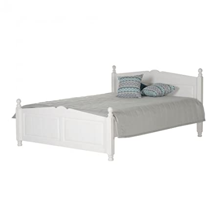 Telmex 25903P51 Bett, Holz, weiß, 200 x 180 x 101 cm