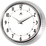 Infinity Instruments The Retro Wall Clock 10940/SV Silver