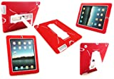 Emartbuy® New Ipad 3 & Apple Ipad 2 Red Dual Layer Armoured Case / Cover with Potrait / Landscape View Stand (All versions Wi-Fi and Wi-Fi + 3G/4G - 16GB 32GB 64GB)